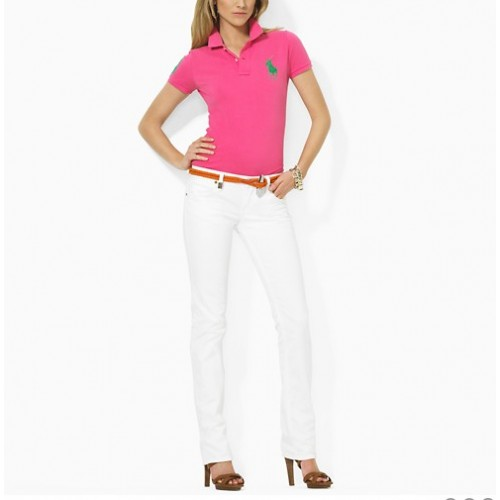 Polo Ralph Lauren Mesh Polo In Pink For Women